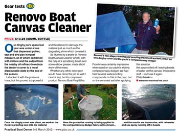 Practical Boat Owner - Boat canvas cleaner review
